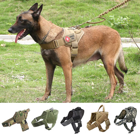 Military Tactical Dog Harness Small Large Dog Vest With Handle