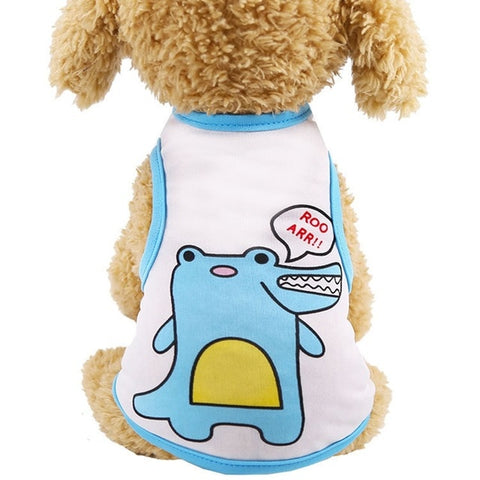 Pet Dog Clothes for Small Dog Cute Print Cotton Summer Shirt Clothing for Dogs  Chihuahua Puppy Vest