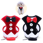 Small Dog Clothes Harness Leash Set Pet Accessories Vest Dog Leashes for Easy Walking Patrol Soft Walk Out Harness