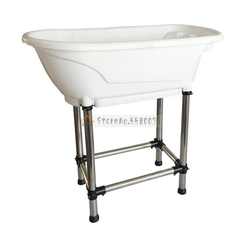 Large Pet Products  Bathtub Non-slip Bath Tub for Dog and Cat No Bending Over with High Stainless Steel Legs Easy Install