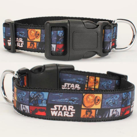 "NEW 1""25mm hot Star Wars pattern printed Dog Collar,1 inch top Dog Collar"