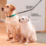 Double Adjustable Nylon Dog Leash Twin Lead