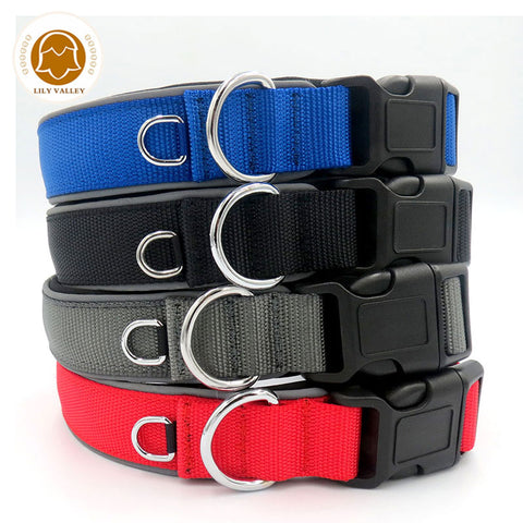 Pet Dog Collar Magic Tape Size Adjustable Reflective Padded Soft Cat Dog Collar