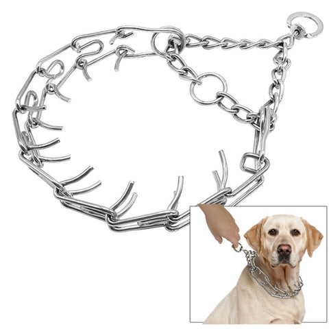 Martingale Training Collars Pet Shock Prong Collar with Twin O Ring 4 Sizes