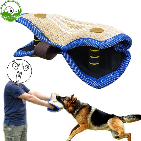 Young Dog Training 2 Handle Bite Wedge Bite Sleeve Grip Builder