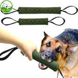 Strong Dog Jute Bite Interactive Toy 2 Handles Training Chewing Tool