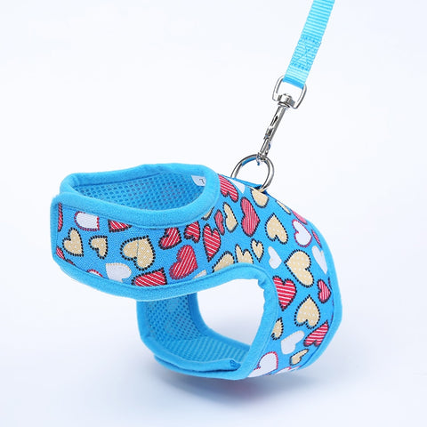 Dog Harness Vest For Small Dogs Soft Cute Cartoon Print Dog Product