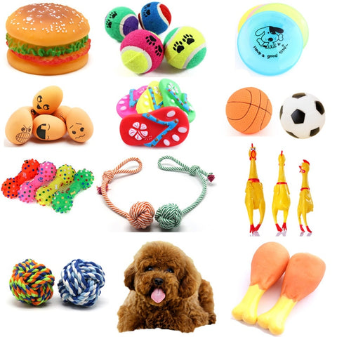 Rubber Squeak Toys Grinding  teeth & Training Pet Toy Supplies