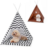 Pet House Tent Shaped Pet Cozy House Cat Home Small Dog Cat Foldable Bed Cat House Puppy Kitten Bed