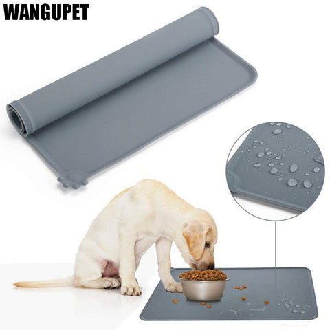 WANGUPET Waterproof Non-slip Pet Feeding Mat Silicone Food Mat