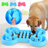 Durable Silicone Pet Dog Cat Interactive Slow Food Bowl Anti-Slip Anti-Gulping Dog Feeder Dishes For Feeding Large Dog Bowls