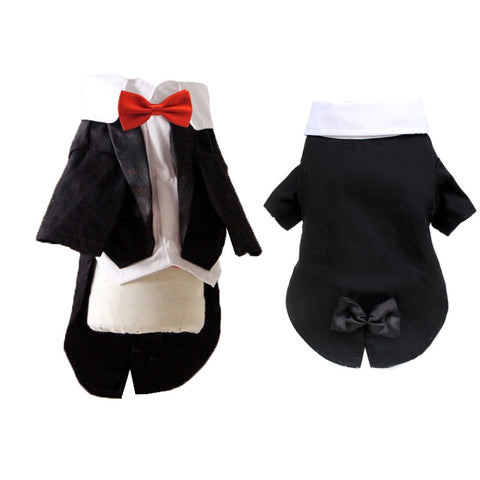 Dog Suit Tuxedo Wedding Coat