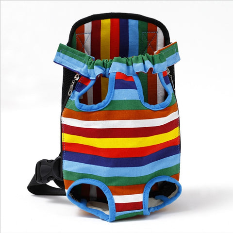 Pet Carrier Bag Saddle Backpack Transporter Travel Bag Four Sides
