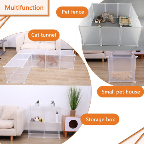DIY Fence For Dogs Aviary For Pets Fitting For Cats Door Playpen Cage Products Playing Living Room For Rabbit Puppy Kennel House