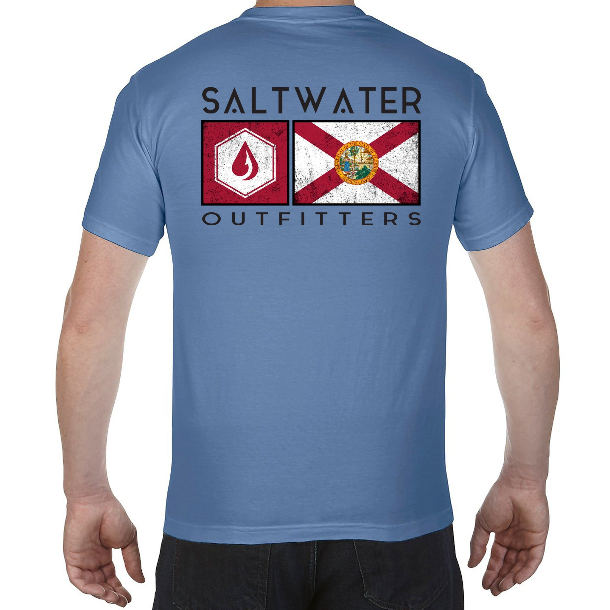 SALTWATER OUTFITTERS STATE FLAG S/S TEE