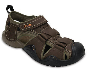 CROCS - MENS SWIFTWATER LEATHER