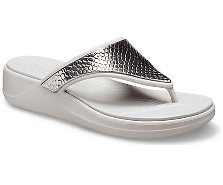 CROCS - LADIES MONTEREY METALLIC WEDGE