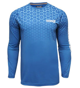 HOOK - MENS HEXAGON VENTED LONGSLEEVE TECH TEE
