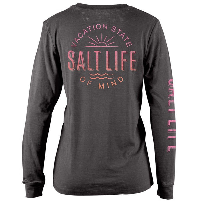 SALT LIFE - LADIES VACATION STATE LONG SLEEVE