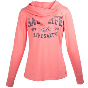 SALT LIFE - LADIES SALTY SUNSET HOODIE