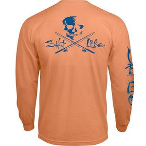 SALT LIFE - MENS SKULL POLES LONG SLEEVE