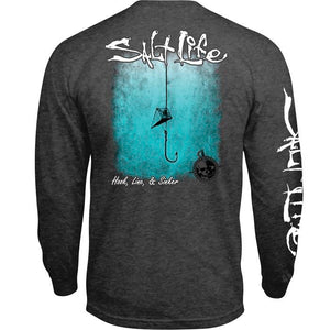 SALT LIFE - MENS HOOK LINE AND SINKER FADE LONG SLEEVE