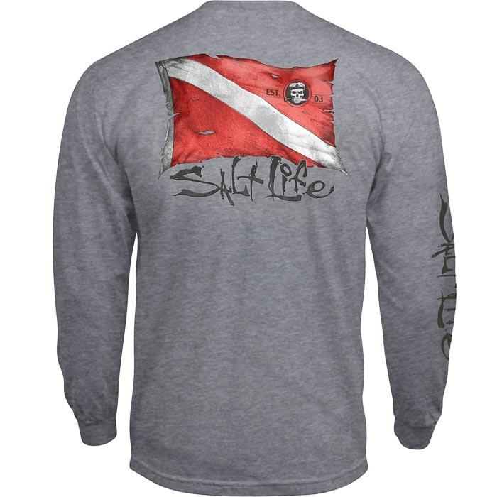 SALT LIFE - MENS WEATHERED DIVE FLAG LONG SLEEVE