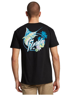 QUIKSILVER - MENS FL BIG CATCH TEE