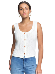 ROXY - BE SENSATIONAL BUTTONED KNIT TANK