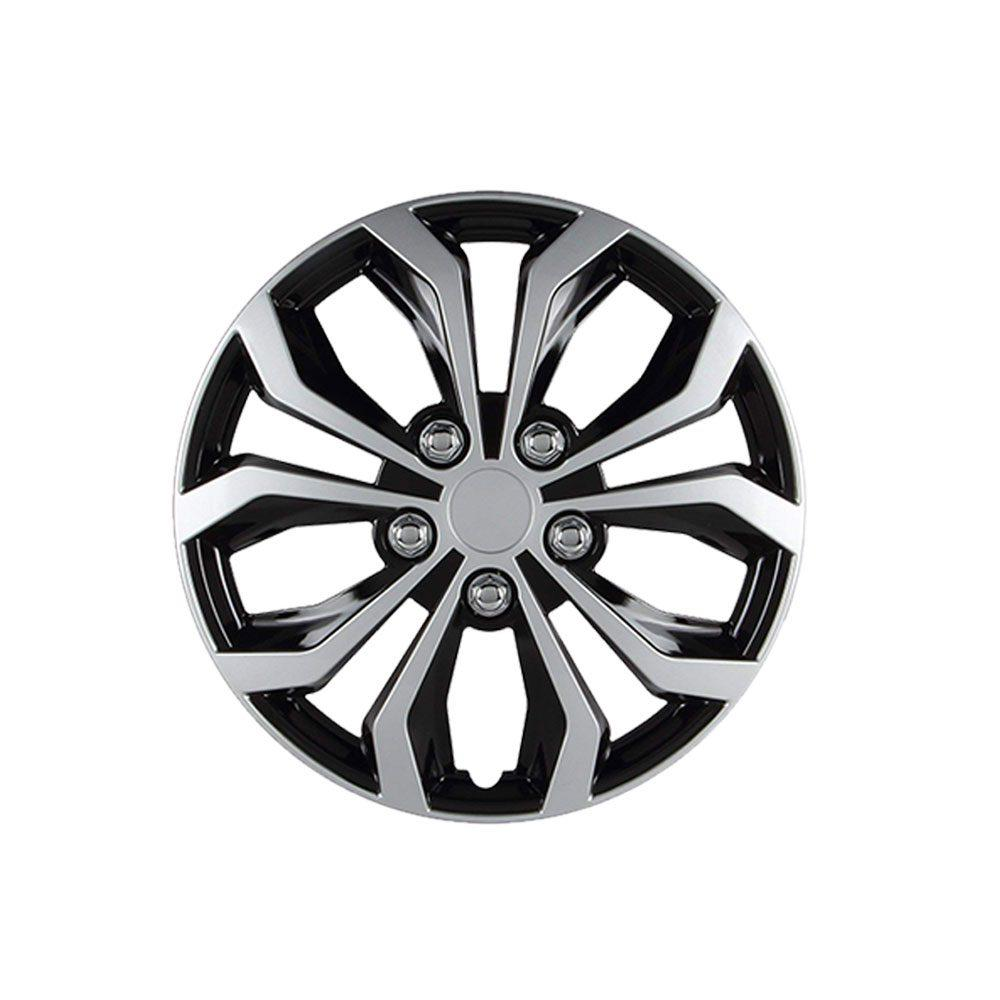 Black and Gray Double Paint Wheel Cover