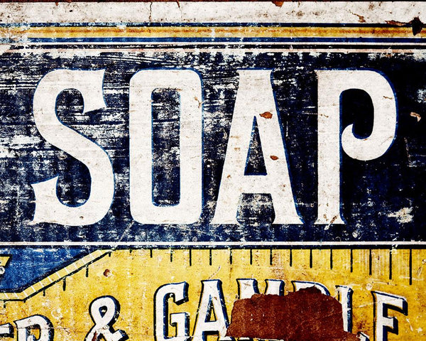 P&G Soap <br>Rustic Bathroom & Laundry Room Decor