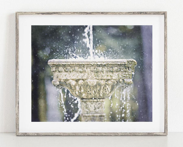 Lisa Russo Fine Art Bathroom & Laundry Room Fountain at Yaddo <br>Bathroom or Dining Room Decor