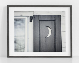 Lisa Russo Fine Art Bathroom & Laundry Room Outhouse Moon <br>Farmhouse Bathroom Decor