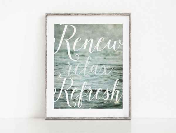Lisa Russo Fine Art Bathroom & Laundry Room Renew, Relax, Refresh <br>Zen Bathroom Decor