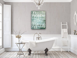 Lisa Russo Fine Art Bathroom & Laundry Room Renew, Relax, Refresh