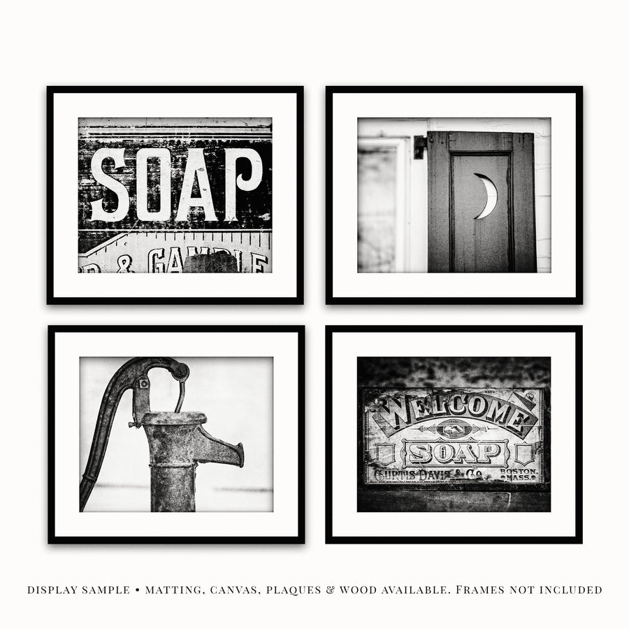 Lisa Russo Fine Art Bathroom & Laundry Room Sepia Bathroom • Set of 4