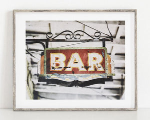 Lisa Russo Fine Art Bathroom & Laundry Room Tujague's Bar <br>French Quarter New Orleans