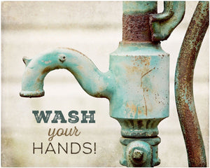 Lisa Russo Fine Art Bathroom & Laundry Room Wash Your Hands!
