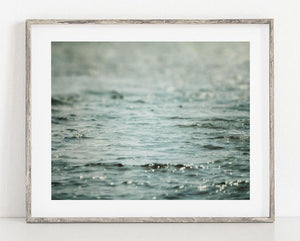 Lisa Russo Fine Art Beach Decor Flow <br>Teal Abstract Beach Decor