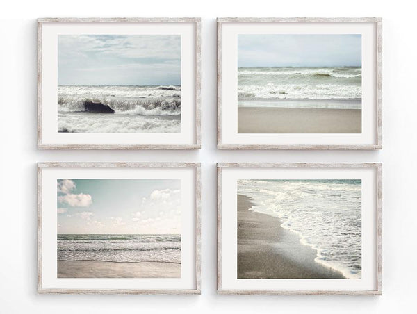 Lisa Russo Fine Art Beach Decor Listen to the Waves <br>Beach Decor Set of 4
