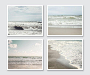 Lisa Russo Fine Art Beach Decor Listen to the Waves • Set of 4