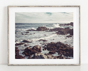 Lisa Russo Fine Art Beach Decor Monterey Rocks <br>California Coastal Landscape