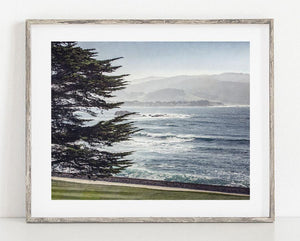 Lisa Russo Fine Art Beach Decor Pebble Beach View <br>Pebble Beach Golf Course