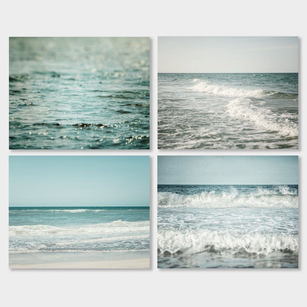 Lisa Russo Fine Art Beach Decor The Ocean Blue • Set of 4