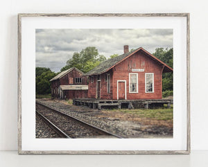 Lisa Russo Fine Art Farmhouse and Rustic Decor 1882 Train Depot <br>Madison Ohio Photography
