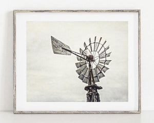 Lisa Russo Fine Art Farmhouse and Rustic Decor Aermotor Windmill <br>Farmhouse Home Decor