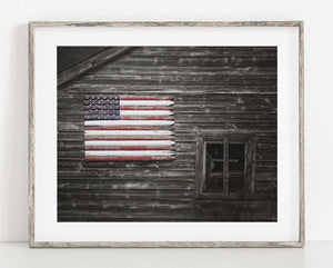 Lisa Russo Fine Art Farmhouse and Rustic Decor Americana Barn <br>Patriotic Farmhouse Decor