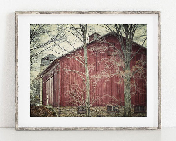 Lisa Russo Fine Art Farmhouse and Rustic Decor Amish Red Barn <br> Rustic Farmhouse Wall Art