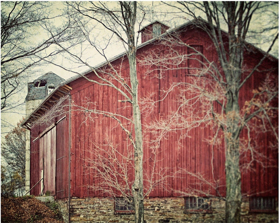 Lisa Russo Fine Art Farmhouse and Rustic Decor Amish Red Barn
