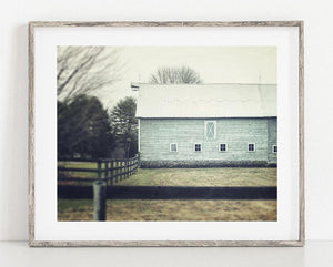 Lisa Russo Fine Art Farmhouse and Rustic Decor Aqua Barn No. 2 <br>Rustic Farmhouse Wall Decor